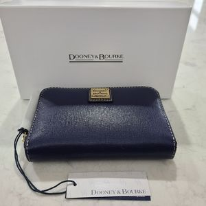 Dooney & Bourke Saffiano Medium Zip Around Wallet